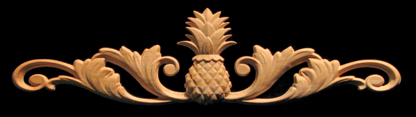 Image Onlay - Wide - Classic Pineapple with Scrolls Onlay