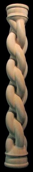 Image Wooden Column - Full Round - Woven II