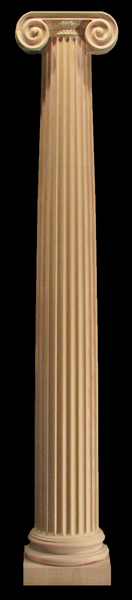 Image Wooden Column (Half and Full Round) - Ionic with Capital