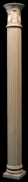 Image Wooden Column - Full or Half Round - Reeded with Acanthus Capital
