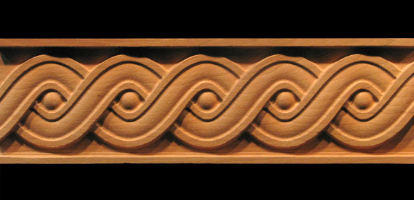 Image Frieze Moulding - Running Coin Weave