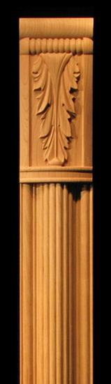 Image Pilaster - Acanthus Capital, Reeded Pilaster, Stacked Coins Plinth