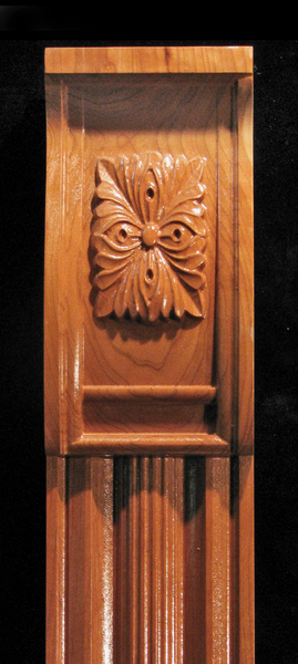 Image Pilaster - Four Leaves Capital and Profiled base