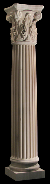 Image Full Round Column - Corinthian Column w Acanthus Capital