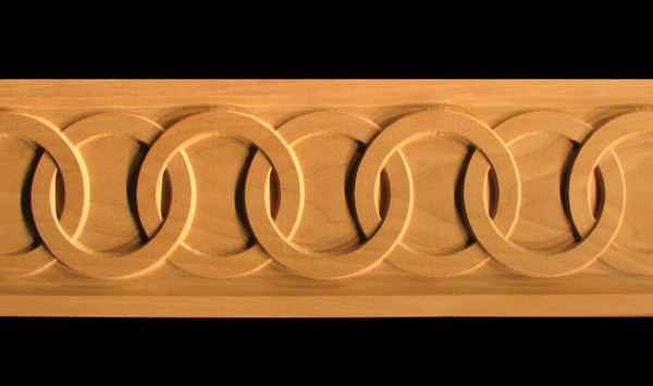 Image Frieze Moulding - Linked Rings