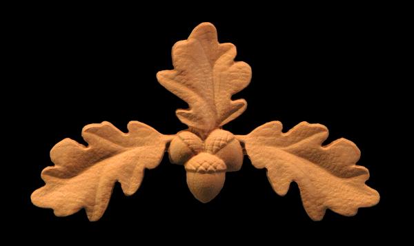 Image Oak Leaf Carved Onlay