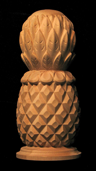 Brand-new Finial - Classic Carved Pineapple Carved Wood NY39