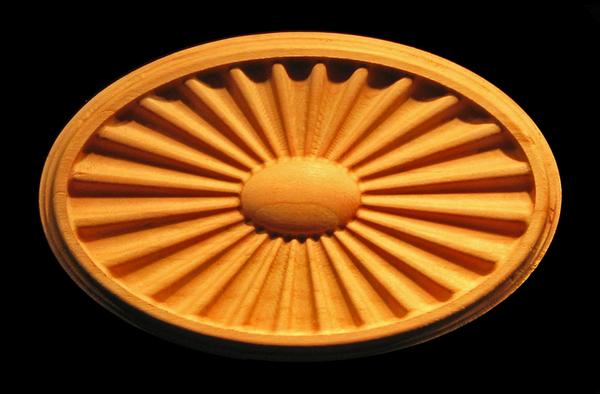 Plaque - Federal Sunburst / Fanlight Carved Wood