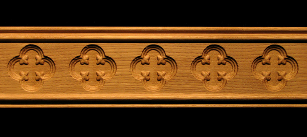Molding - Gothic Quatrefoil Decorative Carved Wood Molding