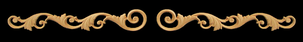 Image Onlay - Wide - Volutes #1 Expanded - Left and Right Paired Set