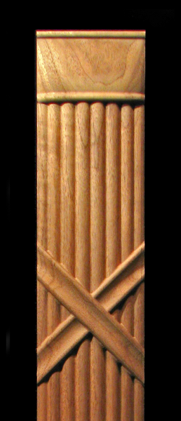 Image Pilaster -Reed and Ribbon