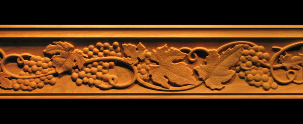 Image Crown Molding - Tuscan Grapes and Vines