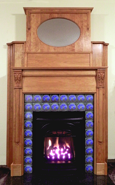 Image Fireplace using Acanthus Capitals and Ribbed Pilaster