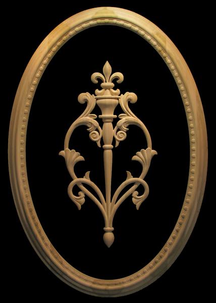Egg and Dart Frame and Fleur de Lis Onlay | Custom Blocks and Onlays