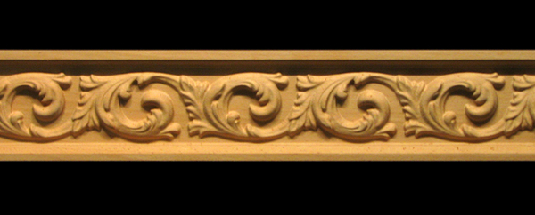 Image Frieze Moulding - Acanthus Flourish