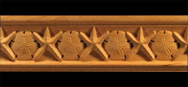 Image Moulding - Starfish and Sand Dollar