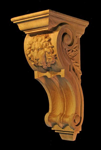 Image Corbel - Regal Lion - 5W x 12L x 6D
