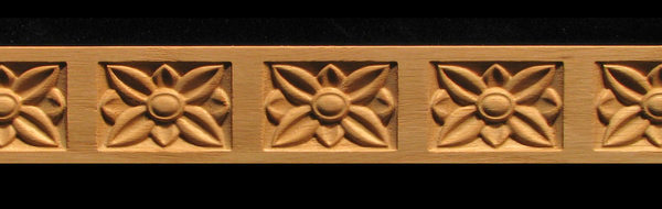 Frieze- Floral Transitions Decorative Carved Wood Molding