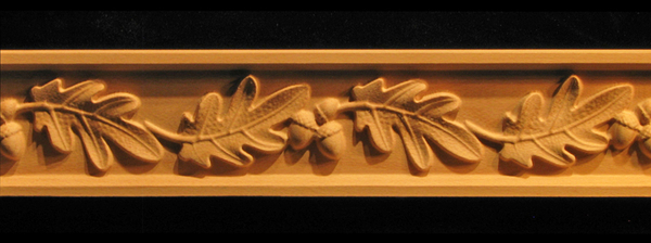 Frieze Oak Leaves Amp Acorns Decorative Carved Wood Molding