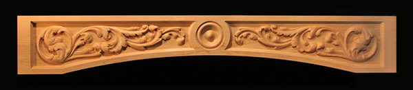 Image Range Hood Panel - Arched Scrolls and Bullseye