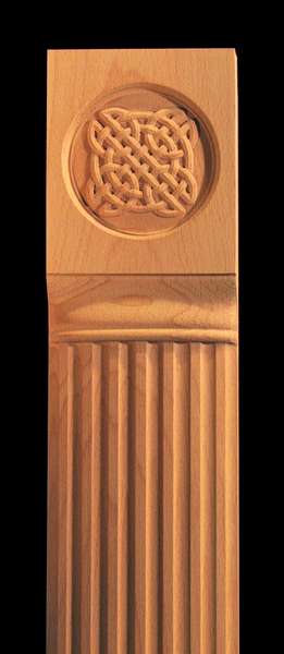 Image Pilaster - Celtic Knot and Fluting