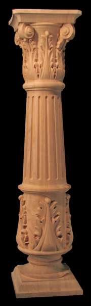 Image Column Full or Half Round - Acanthus Base,  Fluted Body, Corinthian Top 8