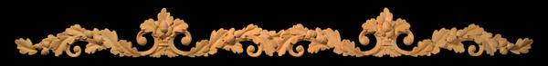 Image Onlay - Wide - Oak Leaf Swag