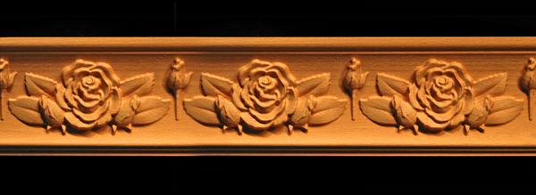 Image Moulding - Rose with Leaves and Buds