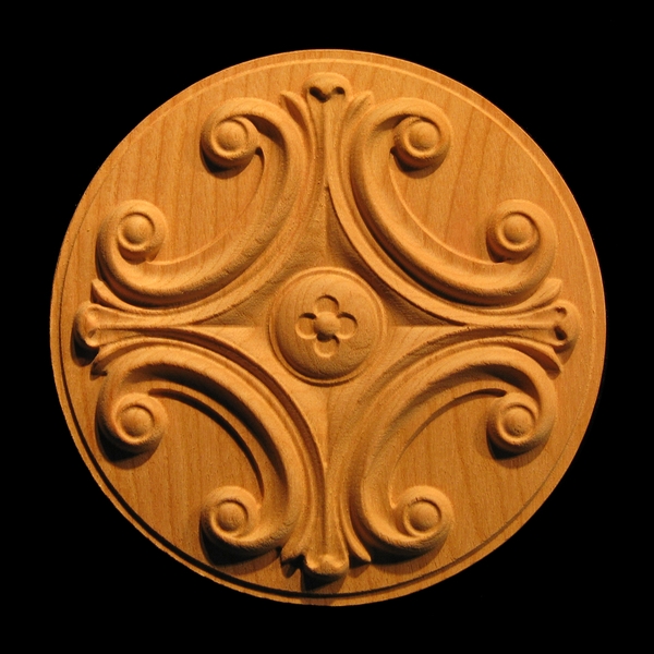 Rosette - Classic Volutes carved wood
