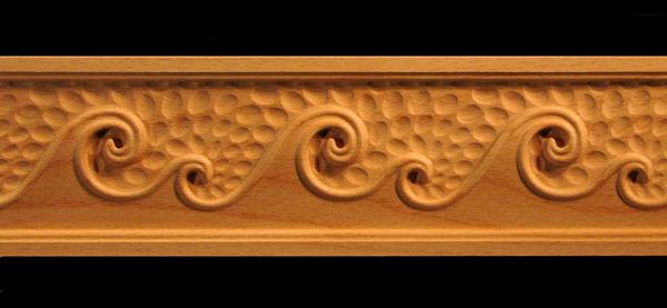 Frieze Waves Decorative Carved Wood Molding