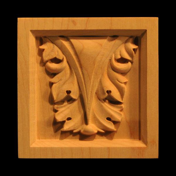 Image Corner Block - Acanthus Leaf