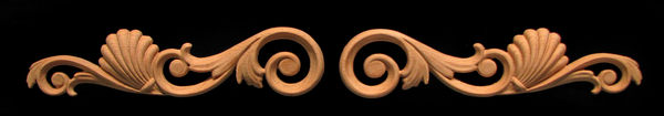 Image Onlay - Volutes with Shells - Left & Right Pair