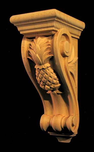 Image Corbel - Classic Pineapple - 12T x 5W x 6D