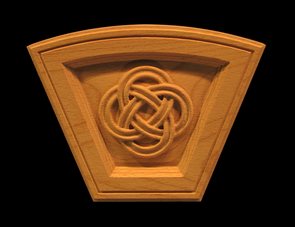 Image Keystone - Celtic Eternal Knot (Arched)