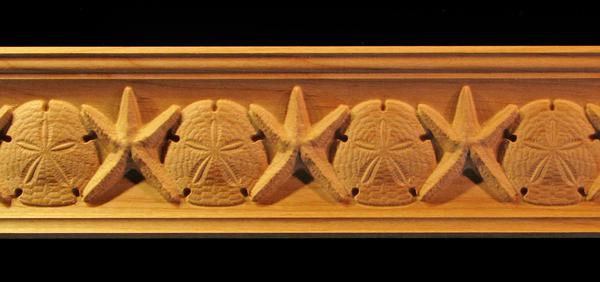 Image Crown Molding - Starfish and Sand Dollar
