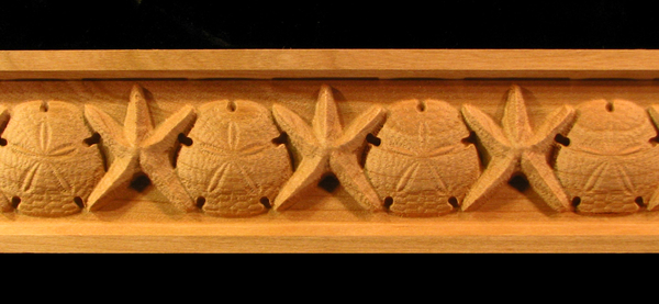 Image Frieze Moulding - Starfish and Sand Dollar