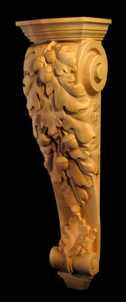Image Corbel - Oak Leaves Cascade - 27T x 7.5W x 6.5D