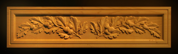 Image Panel - Oak Leaves and Acorns