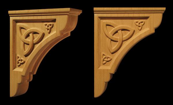 Triple Celtic Trinity Bracket Corbels Brackets And Plinths