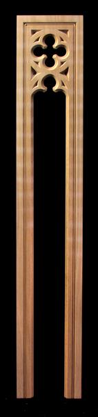 Image Pilaster -Gothic Quatrefoil- Pierced
