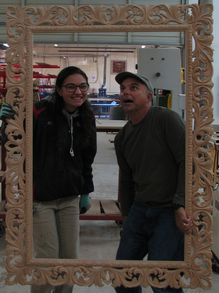 Large Frame for Mirror, Art or Flat Screen TV | Whimsical Art, Medallions, & Client Projects
