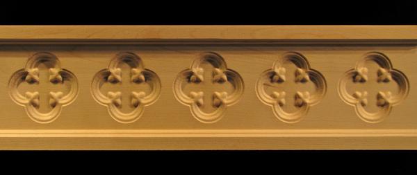 Frieze - Gothic Floret Decorative Carved Wood Moulding