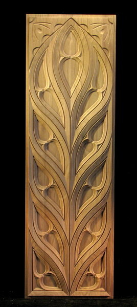Carved Panel - Gothic / Midieval Tracery