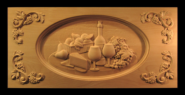 Image Carved Wine and Cheese Range Panel