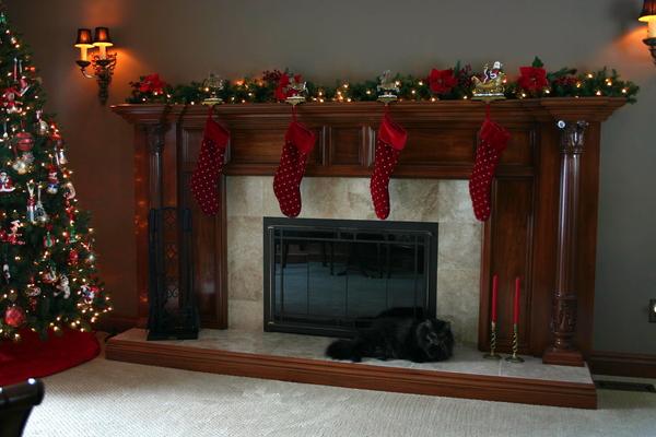 Image Fireplace Mantel Columns