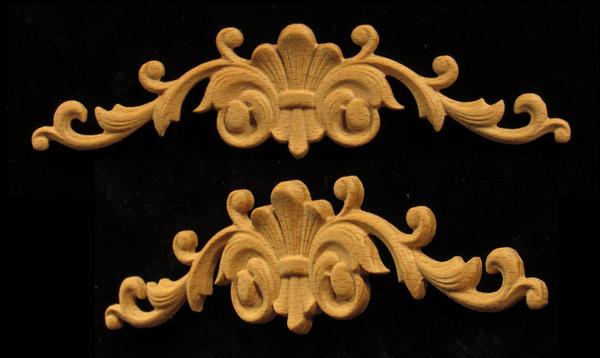 Floral Fleur De Lis scroll | Custom Blocks and Onlays