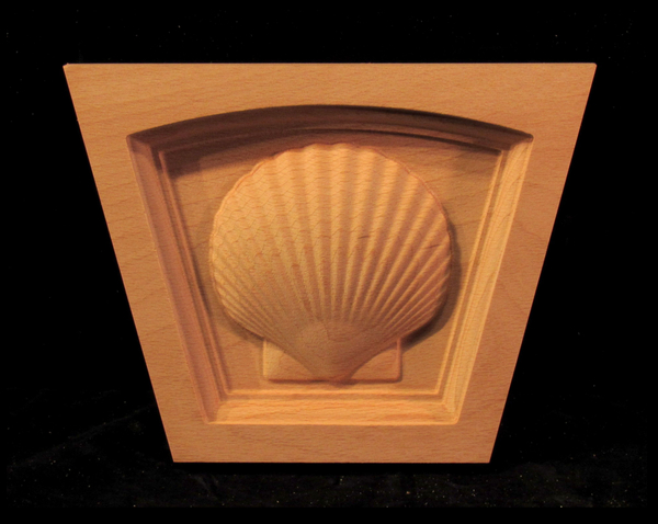Image Keystone - Scallop Shell - Flat Top