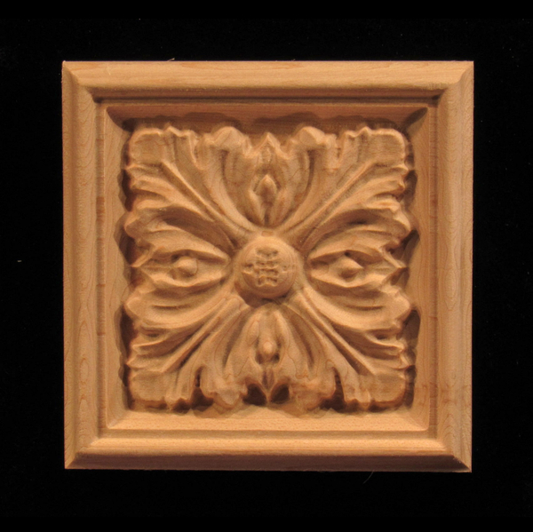 Image Plaque - Acanthus 4 Leaves