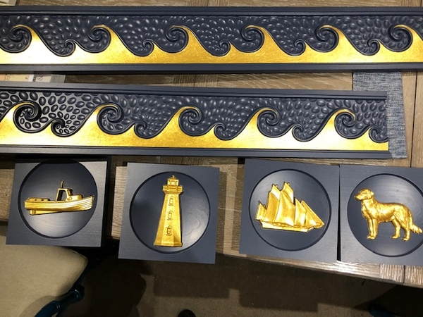 Image Valentine Interiors - Nautical Gold Leaf Blocks