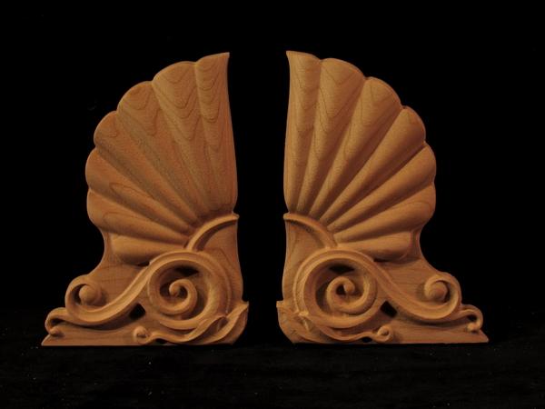 Greek Akroteria Onlays - Left and Right | Custom Blocks and Onlays
